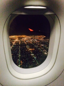 I will never get over the view of landing in LAX at nighttime. Scattered gold.
